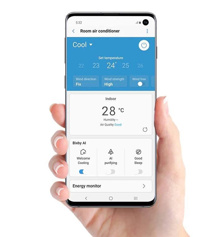 sterowanie WiFi Samsung Wind-Free AVANT