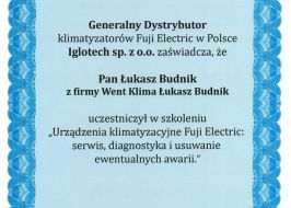 Klimatyzacja Fuji Electric