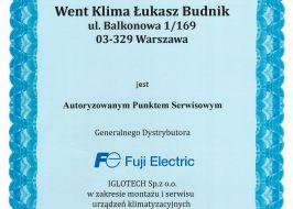 Montaż klimatyzacji Fuji Electric