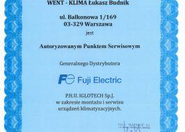 Serwis klimatyzacji Fuji Electric