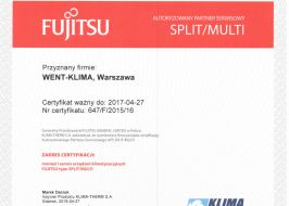 Klimatyzacja Fujitsu Split i Multi Split