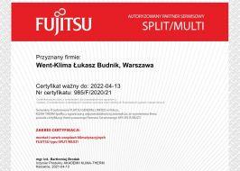 Klimatyzacja Fujitsu Split / Multi