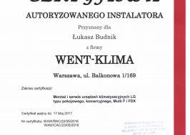 System klimatyzacji Lg