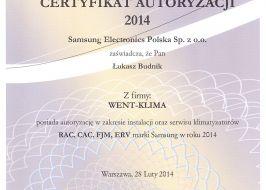 Samsung systemy klimatyzacji serii RAC, CAC, FJM, ERV